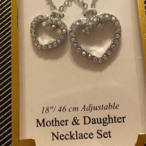 Matching mother and daughter necklace set